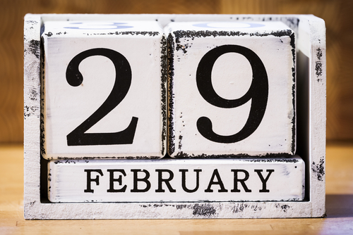 Time clock to track leap year hours