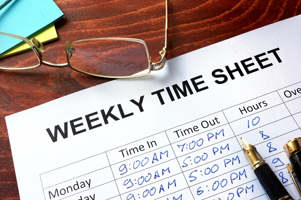 keeping track of time cards and payroll records